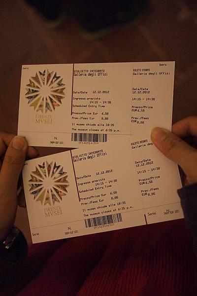 20121212-034. 烏菲茲美術館門票