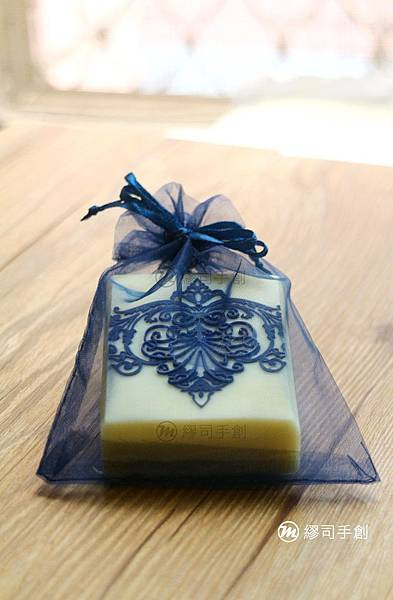 手工皂包裝:深藍雪紗袋