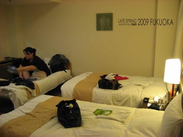 地產博多飯店。Room 321