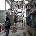小倉城前面的商店街