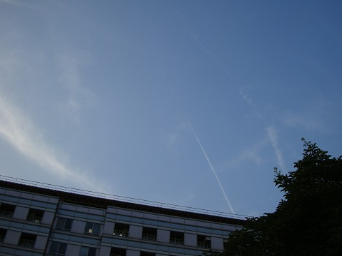 最近天氣超熱,天空好藍