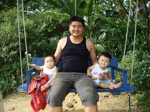 我弟和兩個小孩