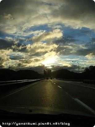 高速公路上超美的黃昏