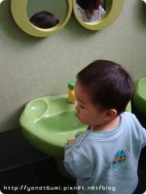 他們的廁所是綠色的好可愛