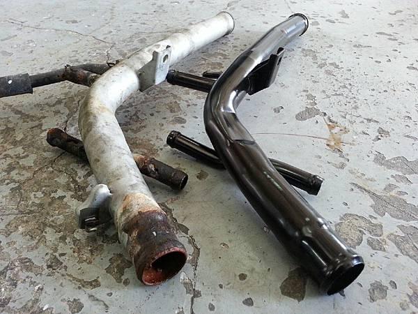 Getz 漏水 鐵水管鏽蝕 全車水管更換_4430