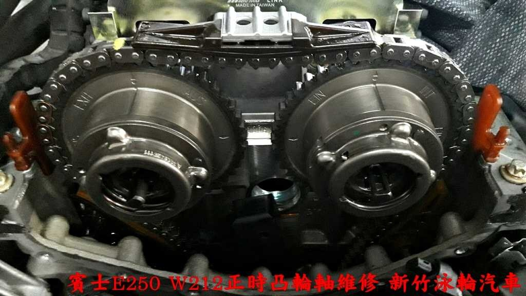 賓士E250 W212通病就是正時凸輪軸故障損壞,這款M271引擎凸輪軸維修價錢不便宜,賓士原廠價格8萬多元