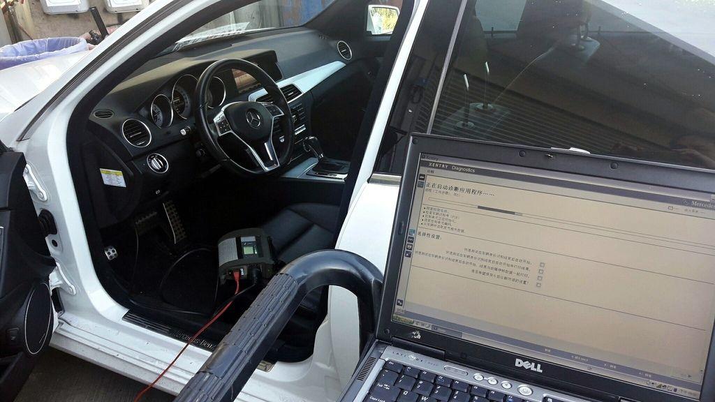 經過技師原廠電腦掃瞄檢查結果,發現引擎第三缸噴油異常,電腦顯示這台賓士C250噴油嘴有故障問題。