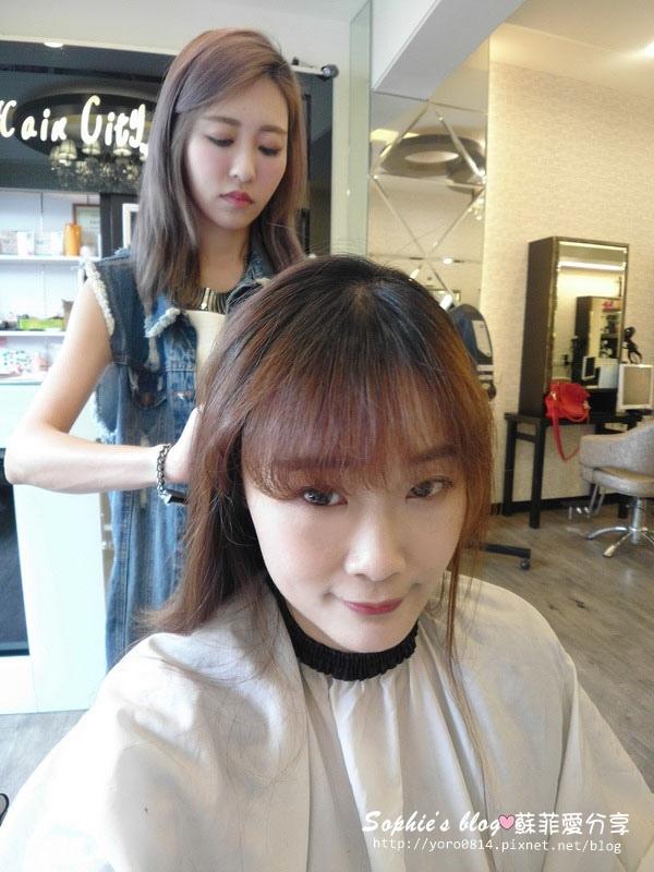 瀏海和髮尾修剪-台中染髮推薦