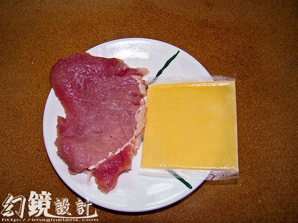 日式藍帶炸豬排_備料1
