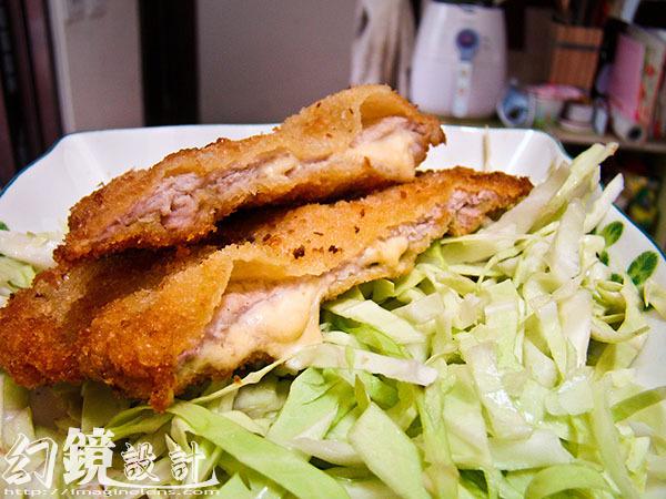 日式藍帶炸豬排_上菜2