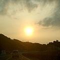 朝著夕陽前進
