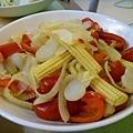炒三色蔬菜