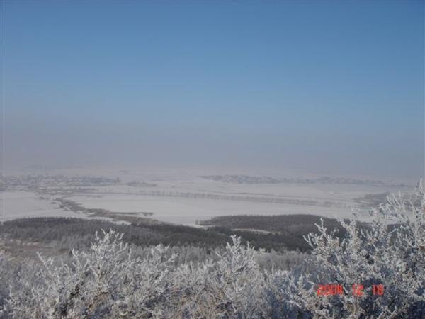 山頂的一景
