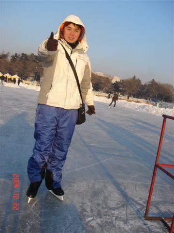 沒想到他敢滑冰