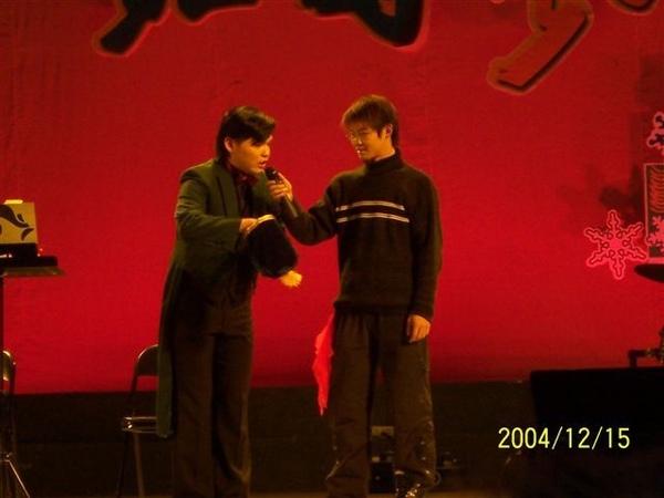 舞台上的我