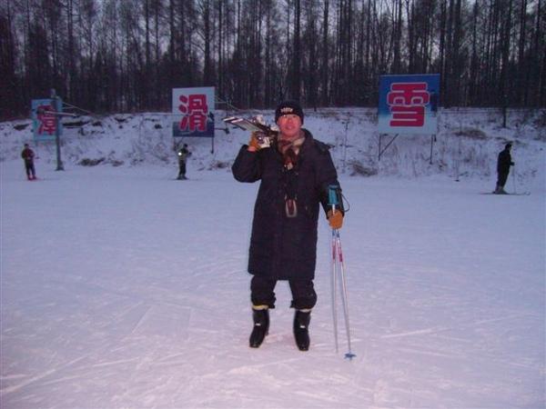 滑雪很累..回家囉