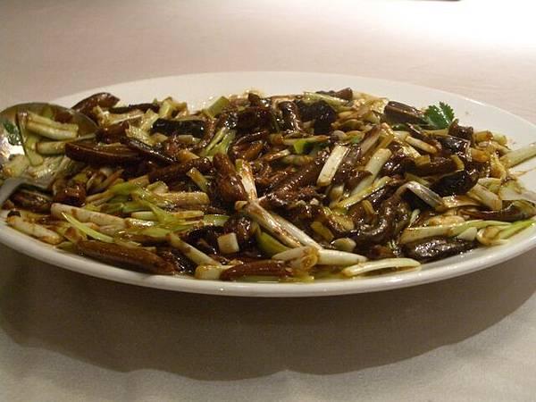 韭黃炒鱔魚