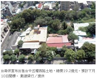 ◆台壽保標售中市土地~