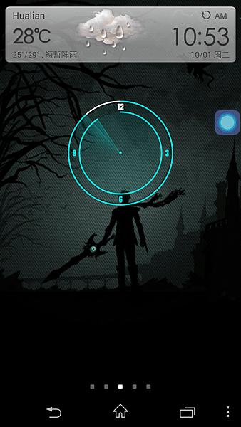 正面加上時鐘widget