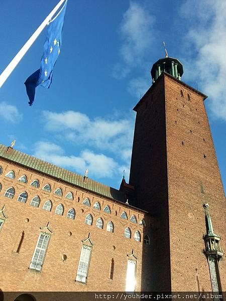 瑞典斯德哥爾摩的市政廳外觀-2.16早上行程-4.jpg