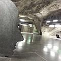 瑞典斯德哥爾摩捷運站之旅--第四站馬賽克站內,像不像一個人的側面?2015.02.16.jpg