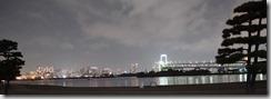 2016.04.03眺望東京灣的夜景。