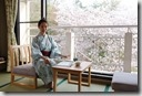 2016.04.06奈良的民宿。民宿房間是傳統日式風格。從房間就可看到窗外美麗盛開的櫻花。--13