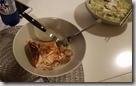 20170825_自製簡易晚餐。--燿東的煎魚排和蘑菇。