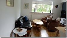 20170901_客廳,半挑高的第下室可以從窗戶看到外面的景色。