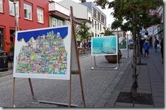 20170902_路邊有許多街頭畫展。