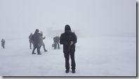 20171030_上了立山看到的都是大風雪。室堂車站外面