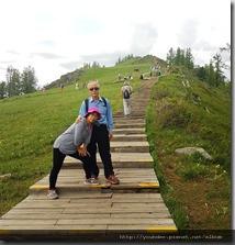 20180613_172832要爬上可俯瞰喀納斯湖全景最佳角度的觀魚亭要爬1068個階梯。