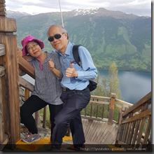 20180613_181221要爬上可俯瞰喀納斯湖全景最佳角度的觀魚亭要爬1068個階梯。1