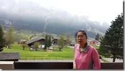 20190429_084825旅館早上的窗外景色,要離開少女峰山城往下一個地點,臨別回眸。