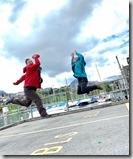圖恩湖邊韓大哥和先生來場武功較勁,玩得不亦樂乎--這種超高技巧的照相是團員的傑作3