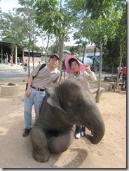 泰國猴子學校和大象合影