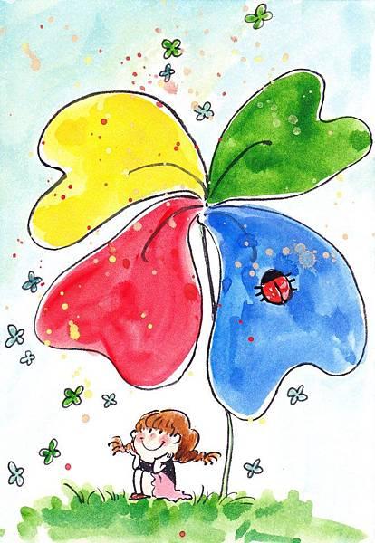 張瑀庭2幸運草創作理念四葉草代表帶來幸運,希望可以隨著風散播到各地