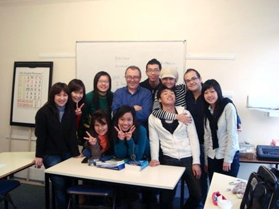 語言學校的同學們