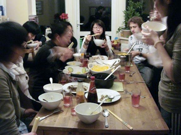 和亞洲同學一起過除夕夜2