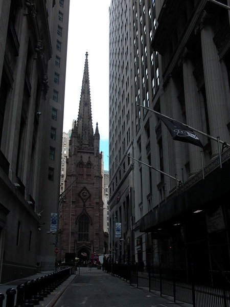 Trinity Church, from Wall Street
