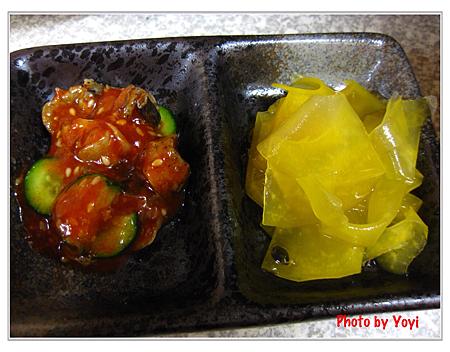 阿宏日式料理03(小黃瓜拌螺肉&百香果青木瓜)