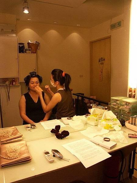 新娘與化妝師