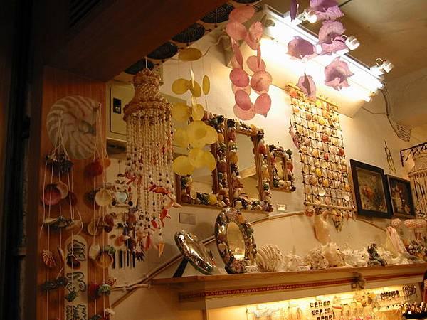基山街內的貝殼小店