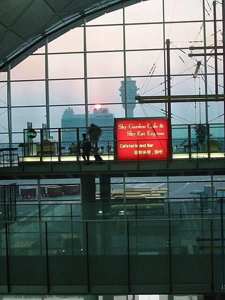 2007.01.07 香港機場的夕陽
