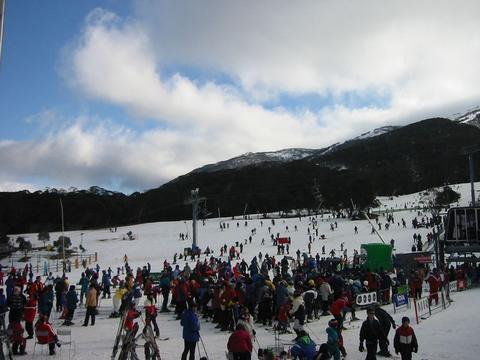 天氣晴無風的滑雪超讚天氣