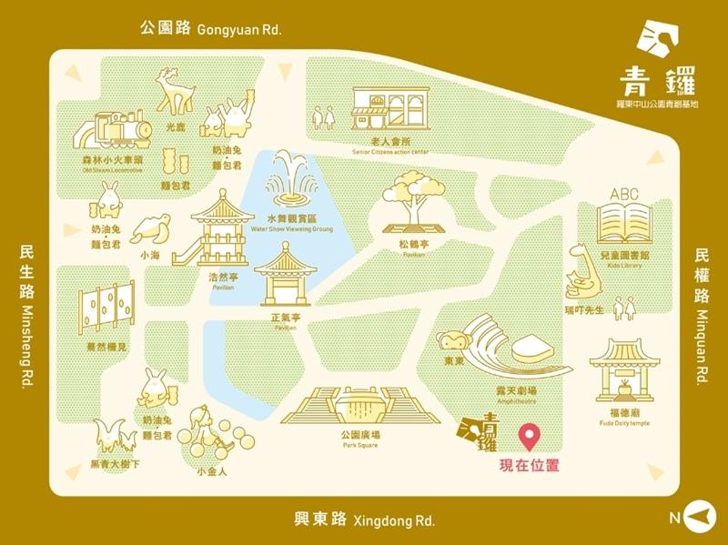 宜蘭中山公園map