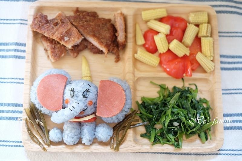 【親子料理】兒童造型便當食譜~小飛象飯糰.JPG