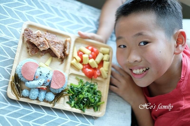 【親子料理】兒童造型便當食譜~小飛象飯糰3.JPG