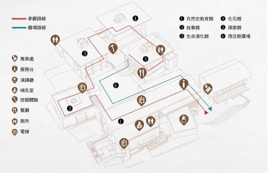 【台南親子景點】臺南左鎮化石園區平面圖.jpg