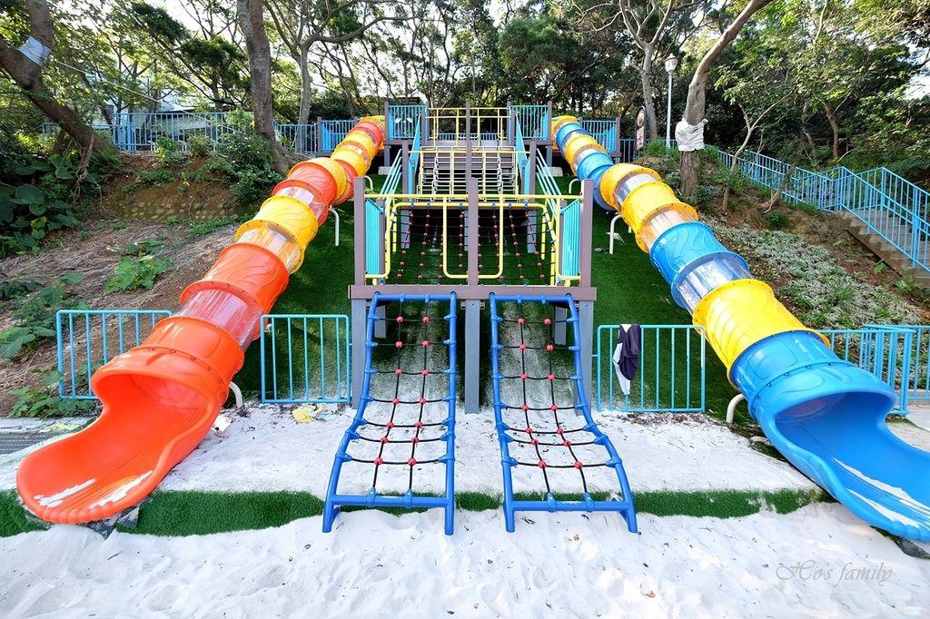 【桃園親子公園】平鎮鑊篤陂塘生態公園大型地景特色溜滑梯3.JPG